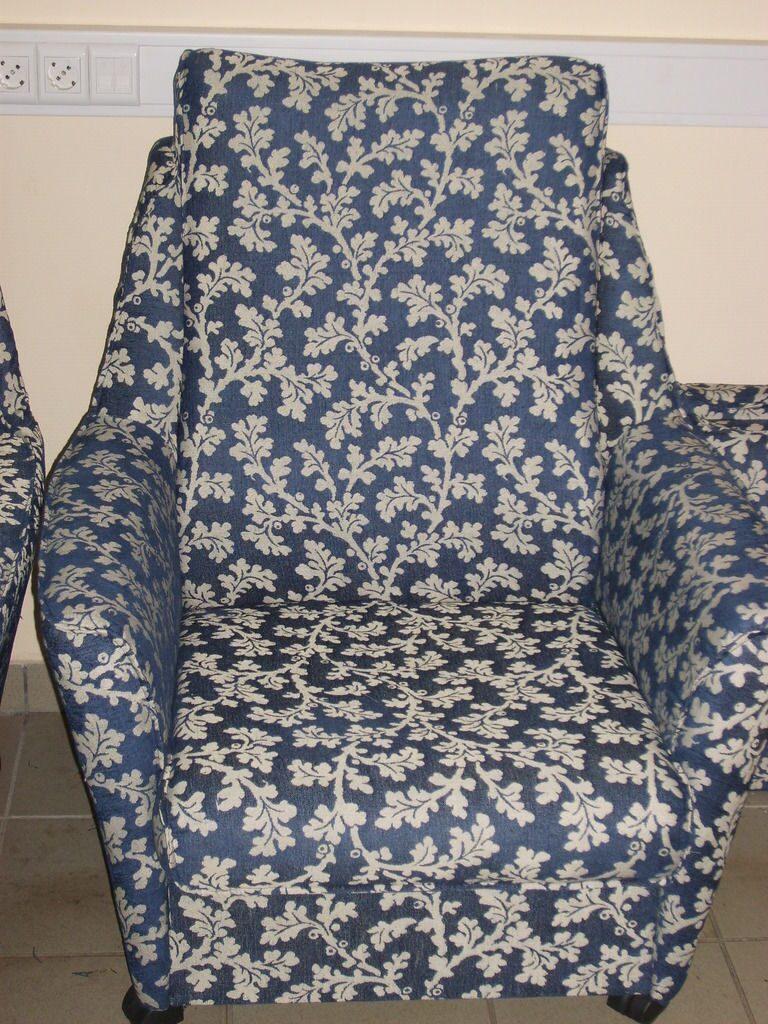 перетяжка старой мебели тканью